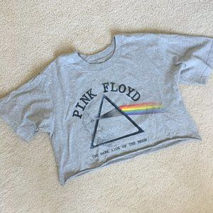 Forever 21 Cropped Pink Floyd Shirt NEW! Small/Med